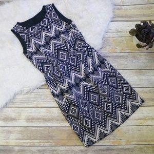 J Crew Diamond Ikat Dress Geometric Print